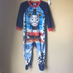 Thomas & Friends Pajamas - Winter Thomas the Train footed sleeper